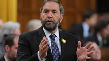 New Democratic Party leader Thomas Mulcair asks a question during question period in the House of Commons on Parliament Hill in Ottawa on Thursday, April 26, 2012. (Sean Kilpatrick/Sean Kilpatrick/THE CANADIAN PRESS)