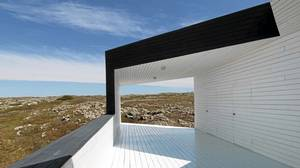 A Todd Saunders-designed building at the Fogo Island Arts colony.