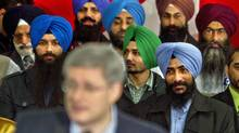 Prime Minister Stephen Harper speaks at a rally in Brampton, Ont., on March 27, 2011. (Peter Bregg/Peter Bregg for The Globe and Mail)