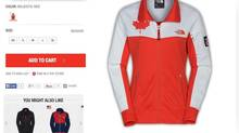 "The Canadian Olympic Committee is in a dispute over a line of clothing North Face launched in November called the ""International Collection."" Some of the clothing was labelled ""village"" wear, is decorated with the Canadian flag (or other team colours in other countries), and sometimes featured a patch with the symbol ""RU 14"" – a reference to the Winter Games in Sochi, Russia. Other merchandise showed a world map with a red star where Sochi is located. A T-shirt featured the date of the opening ceremonies; ""07.02.2014."" (The North Face website)"