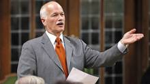 New Democratic Party Leader Jack Layton speaks during Question Period in the House of Commons on Sept. 16, 2009. (CHRIS WATTIE/Reuters)