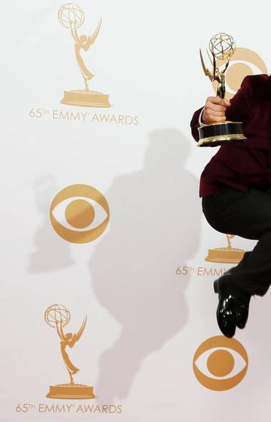 Hey, Derek Hough. How excited are you about winning your first Emmy for choreographing Dancing With the Stars? (LUCY NICHOLSON/REUTERS)
