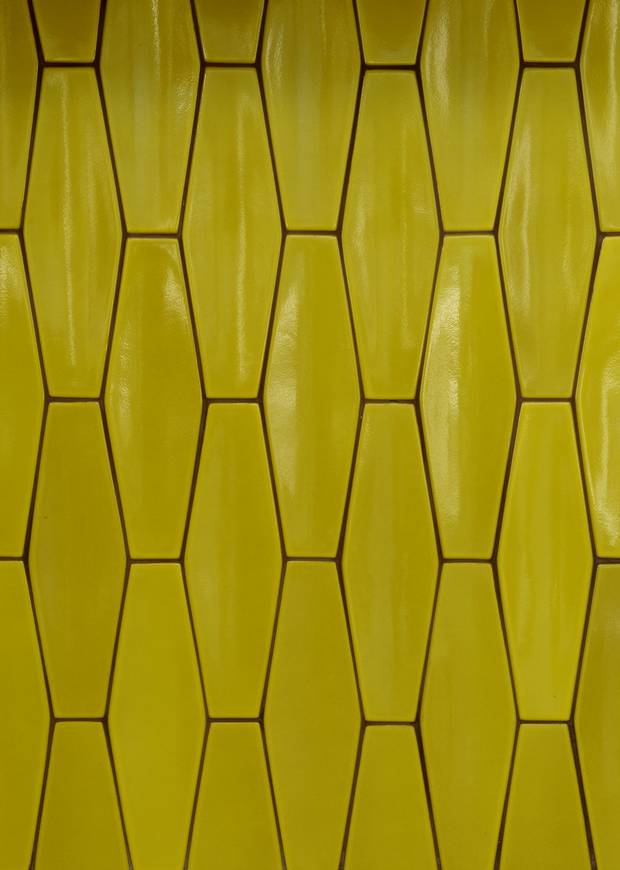 Lavender cabinets and yellow tile: How colour makes a splash