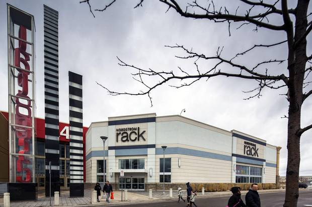 Rack outlets in Canada will carry almost twice as much merchandise from its own full-line stores than its U.S. Rack stores do.