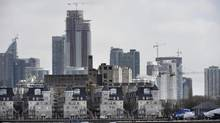 Toronto's cityscape is seen from the waterfront near Ontario Place Blvd on March 24 2014. Constructiion cranes dot the skyline as condominium developments proceed to change the waterfront. (Fred Lum/Fred Lum/The Globe and Mail)