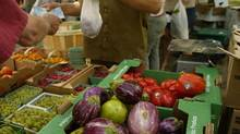 Organic produce is displayed by vendors at Riverdale Farm in Toronto, Ont. (Kevin Van Paassen/Globe and Mail)