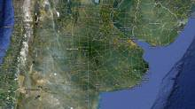 A screengrab shows Argentina. A quake struck 138 km northeast of Salta on Oct. 6, 2011. (Google Maps)
