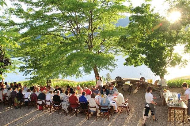 A Joy Road Catering dinner at God's Mountain Estate on Skaha Lake in B.C.'s Okanagan Valley.