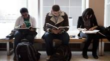 University of Toronto students study before a test at the McLennan Laboratory building on Feb. 15, 2012. (Matthew Sherwood For The Globe and Mail)