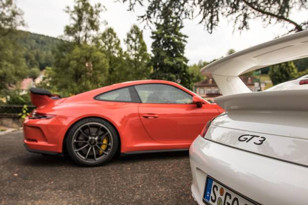 The new GT3 is heavier and wider than its predecessor.