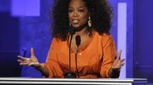 This Feb. 22, 2014, file photo shows Oprah Winfrey speaking at the 45th NAACP Image Awards in Pasadena, Calif. (Chris Pizzello/Invision/AP)