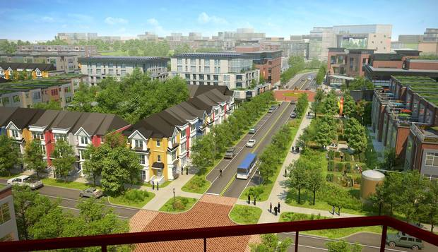 Once the utilities are installed, roads will be laid and landscaping undertaken in preparation for 175 townhouses and 75 low-rise apartment units over eight hectares.