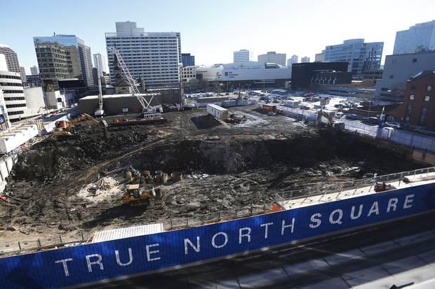 Construction of True North Square.