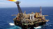 A Petrobras production platform 175 kilometres off the shore of Rio de Janeiro. (MARCELO SAYAO/EPA)