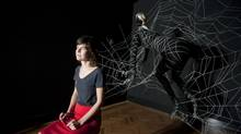 Toronto artist Shary Boyle poses in front of her soft sculpture installation, White Light, at the Art Gallery of Ontario in 2010. (Sarah Dea/The Globe and Mail)