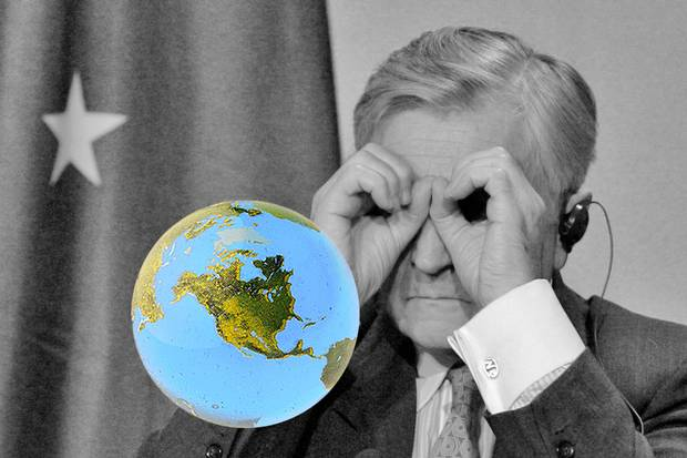 Oct. 4, 2008: European Central Bank president Jean-Claude Trichet gestures at a news conference at an emergency financial summit in Paris. The 2008 financial crisis broke the economic loop that had sustained globalization as we know it. With a decade's hindsight, we can see the causes of globalization's crisis, but are still looking for a system that can replace it.
