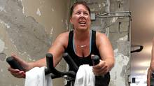 Johanna McLellan at CYKL spinning studio in Toronto (Tim Fraser for The Globe and Mail/Tim Fraser for The Globe and Mail)