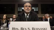 U.S. Federal Reserve Chairman Ben Bernanke prepares to testify before the Senate Banking, Housing and Urban Affairs Committee hearing on Capitol Hill in Washington, July 17, 2012. (YURI GRIPAS/REUTERS)