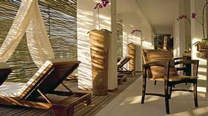 The enticing spa at the Hotel Santa Teresa.