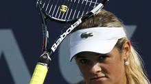 Aleksandra Wozniak of Canada reacts to a missed point at the U.S. Open tennis tournament in New York August 27, 2012. (EDUARDO MUNOZ/REUTERS)