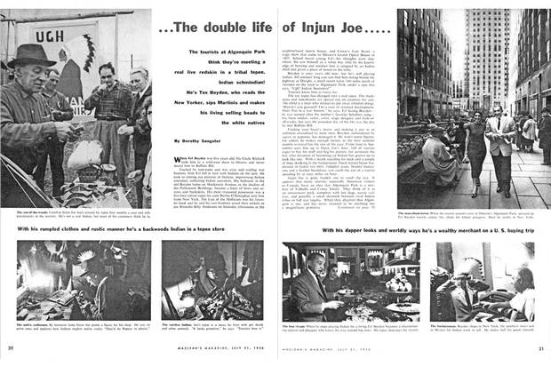 A profile in Maclean's magazine features Joseph Boyden's uncle Erl, known as 'Injun Joe.'
