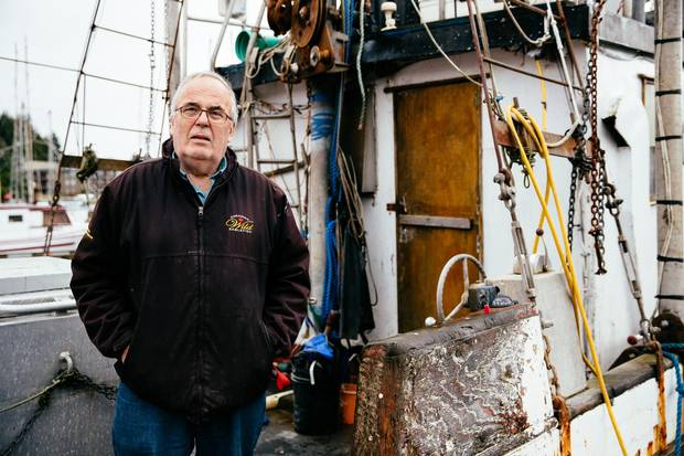 'In B.C.,' says fisherman Dan Edwards, seen with his boat, the individual transferable quota permits have 'become a commodity to be bought and sold. And the cost of buying it is well out of the reach of most fishermen.'
