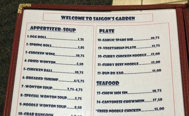 Saigon's Garden, in Nackawic, N.B., is closed on Mondays so its owner can gather with fellow Chinese restaurant operators and learn more about the cuisine.