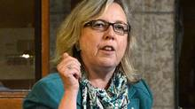 Green Party leader Elizabeth May asks a question during Question Period in the House of Commons in November 2012. Ms. May says senior sources who would lose their jobs if they went public have told her that the Conservative government is planning to eliminate the federal environment department and merge any remaining functions with Natural Resources Canada. (Sean Kilpatrick/The Canadian Press)