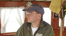 Dennis Oland on board the Aloma, the family boat.