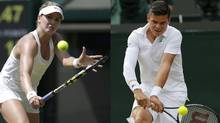 Genie Bouchard and Milos Raonic (Reuters)