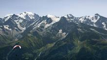 The Mont Blanc range of the Alps is shown in 2009. (DEAN TREML/RED BULL PHOTOFILES/REUTERS)