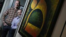 Art for Healing Foundation co-founders Earl Pinchuk, left, and Gary Blair have placed more than 8,500 donated works of art in health-care institutions. (CHRISTINNE MUSCHI FOR THE GLOBE AND MAIL)