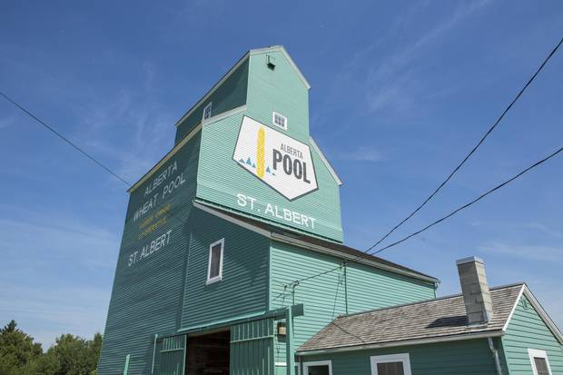 A grain elevator in St. Albert, Alta.