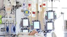 Technology plays a role in keeping patients alive in the Critical Care Unit at Sunnybrook Hospital. (Moe Doiron/The Globe and Mail) (Moe Doiron/Moe Doiron/The Globe and Mail)