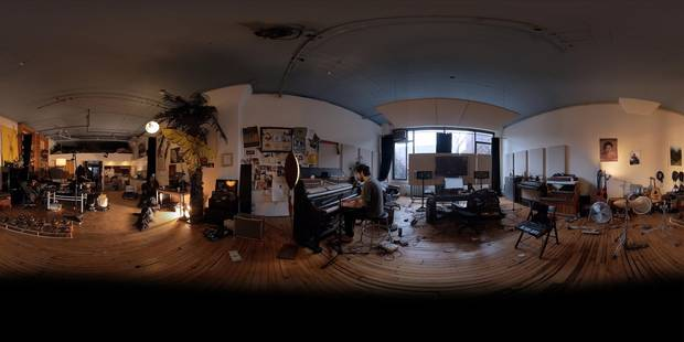 Strangers by Felix & Paul placed the viewer in Patrick Watson's Montreal studio as he sits at the piano and works up a song.