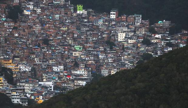 The Rocinha favela, seen from above on July 31, 2016.