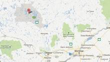 Four people have been killed in a collision between a car and a truck in the La Verendrye wildlife reserve north of Ottawa in the Abitibi-Temiscamingue region. (GOOGLE MAPS)