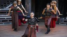 The Canadian Stage production of Titus Andronicus is heavily ritualistic, but at others completely unbridled. (David Hou/Canadian Stage)