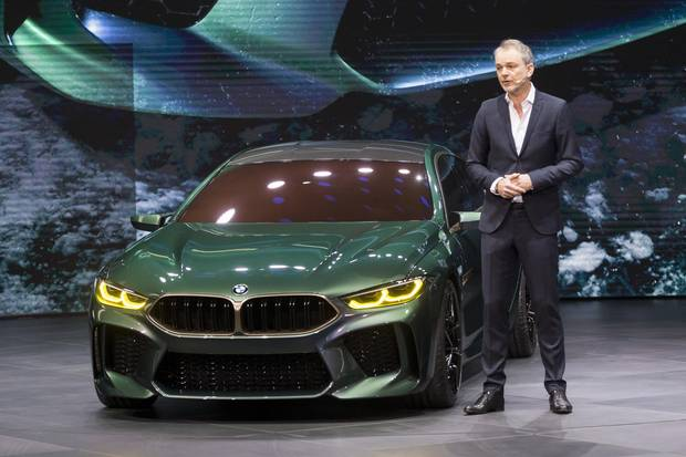 Adrian Van Hooydonk presents the new BMW M8 Gran coupe.