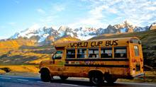 The World Cup Bus drove 19,000 kilometres form Vancouver to Brazil, reaching its final home at a small soccer school. (Tom Henriksen)