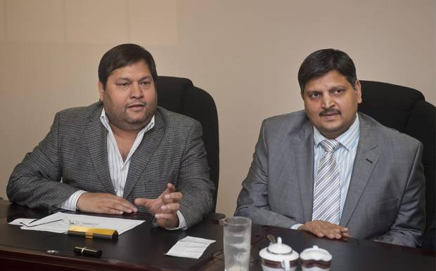 Ajay Gupta and younger brother Atul Gupta, shown in 2011.
