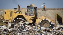 The City of Vancouver's landfill site in Delta, B.C., in August 2011. (John Lehmann/The Globe and Mail)