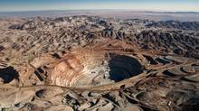 An aerial view of the Cerro Verde copper mine, majority-owned by Freeport-McMoRan, in the Atacama Desert near Arequipa, Peru. (Maik Dobiey/Bloomberg)