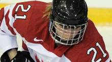 Canadian forward Haley Irwin. (FILE PHOTO: KEYSTONE/Steffen Schmidt) (Steffen Schmidt/Keystone)