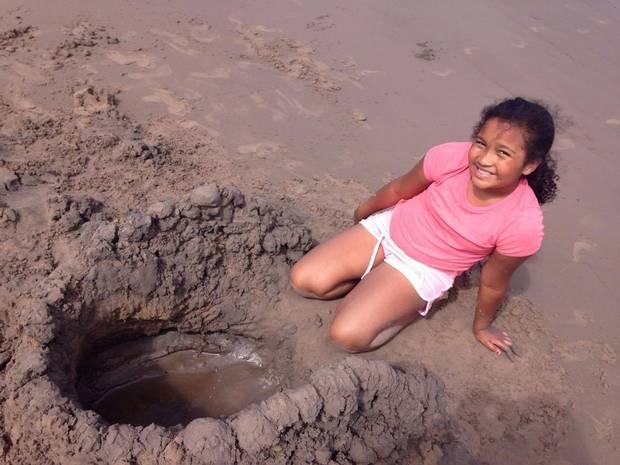 Aaliya Desmond, age 9, last August at Nova Scotia's Bayfield Beach Provincial Park.