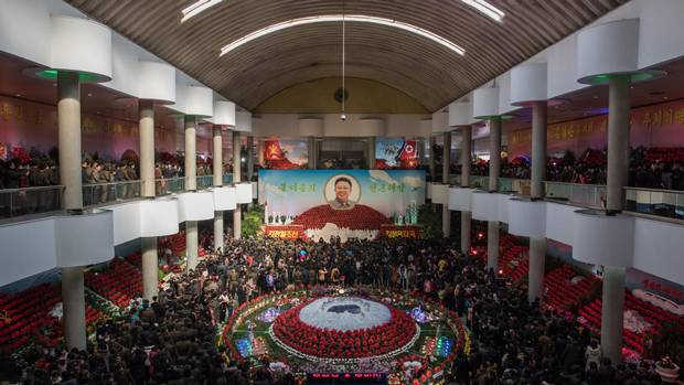 A flower show attended by upward of 700,000 celebrated the 75th anniversary of the birth of the late Kim Jong-Il, North Korea's Dear Leader, in Pyongyang earlier this month.