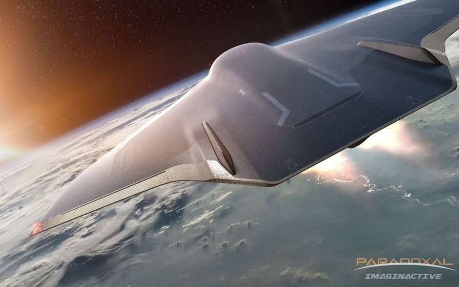 A hypersonic commercial plane that goes into space for insanely fast travel