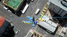 Drop in to save the day in your superhero overalls at Auckland's Skytower (Robin Esrock/Robin Esrock)
