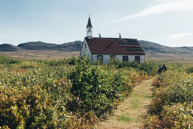 An old church at the village of Bathurst Inlet.