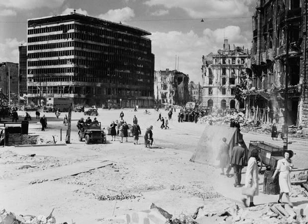 Berlin's Potsdamer Platz is shown in an archival photo.